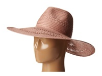 Bcbgmaxazria Basket Weave Floppy Hat Dusty Pink Traditional Hats