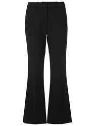 French Connection Glass Stretch Crop Trousers Black