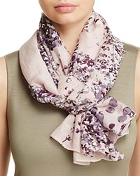 Fraas Perforated Floral Scarf Light Rose Multi