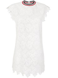 Moncler Gamme Rouge Embroidered Mini Dress White