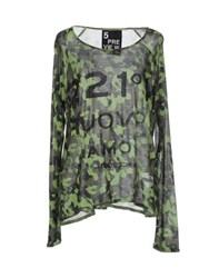 5Preview Topwear T Shirts Women Light Green