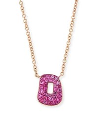 Mattioli Puzzle Pink Sapphire Pendant Necklace In 18K Rose Gold