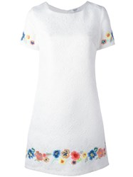 Blugirl Floral Embroidered Jacquard Dress White