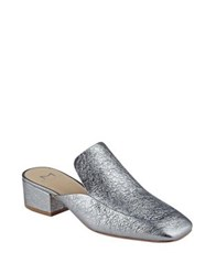 Marc Fisher Lailey Leather Mules Pewter