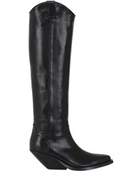 Gaia D'este 70Mm Leather Knee High Boots