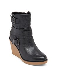 Bcbgeneration Finland Leather Wedge Boots Black
