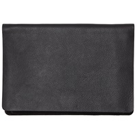 Collection By John Lewis Cora Leather Panel Clutch Bag Black