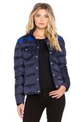 Penfield Rockford Plaid Yoke Down Jacket Navy