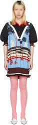 Undercover Reversible Blue And Red Polo Dress