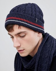 Selected Homme Cable Beanie Dark Sapphire Navy