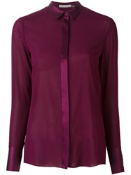 Alice Olivia Semi Sheer Blouse Pink And Purple