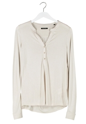 Marc O'polo Serafino Long Sleeved Top Haze Off White