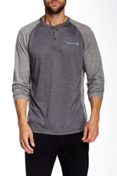 Free Country All Day Raglan Long Sleeve Henley Gray