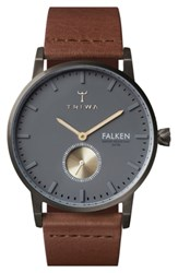 Triwa Walter Falken Organic Leather Strap Watch 38Mm