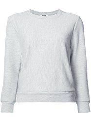 Re Done Crewneck Reconstructed Champion Sweater Grey