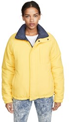 Opening Ceremony Unisex Reversible Quilted Puffer Jacket Fluorescent Yellow
