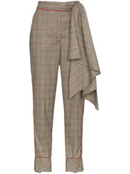 Johanna Ortiz Aesthetic Grunge Scarf Belt Wool Trousers