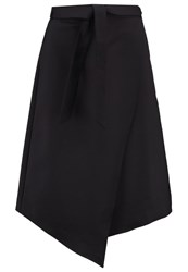 Kiomi Wrap Skirt Black