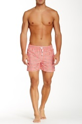 Parke And Ronen Gingham Volley Short Red