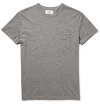Officine Generale Melange Cotton Jersey T Shirt Gray