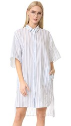 Acne Studios Debrah Striped Shirtdress Blue Stripe