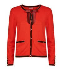 Claudie Pierlot Maxypunk Bow Cardigan Female Red