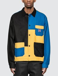 Brain Dead Colorblocked Canvas Chore Coat Yellow
