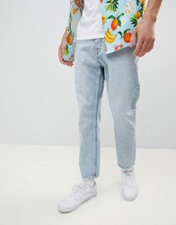 Cheap Monday In Law Tapered Jeans Pixel Blue Pixel Blue