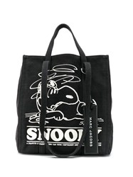 Marc Jacobs Snoopy Tote Bag Black