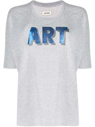 Zadig And Voltaire Art Print Short Sleeve T Shirt 60