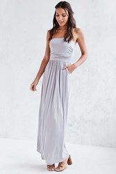 Kimchi And Blue Kimchi Blue Strapless Ruched Knit Maxi Dress Lavender
