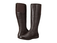 Softwalk Hollywood Wide Calf Dark Brown Soft Nappa Leather Women's Wide Shaft Boots