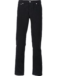 A.P.C. Brushed Cotton Trousers Blue
