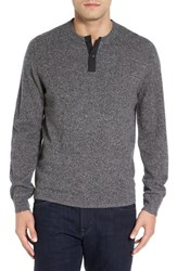 Nordstrom Men's Men's Shop Cashmere Henley Sweater Grey Ebony