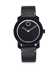 Movado Tr90 And Stainless Steel Strap Watch Black