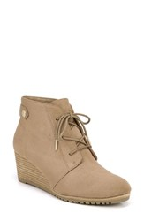 Dr. Scholl's Conquer Wedge Bootie Brown Fabric
