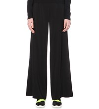 Christopher Kane Palazzo Stretch Crepe Trousers Black