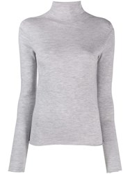 Joseph Turtleneck Knitted Sweater Grey
