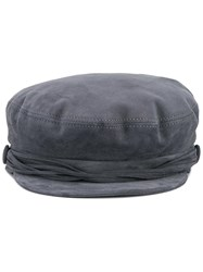 Maison Michel Aby Hat Grey