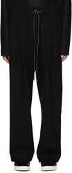 Attachment Black Wool Wide Leg Trousers