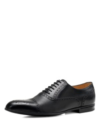 Gucci Chiaia Brogue Leather Lace Up Shoe Black