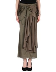 Marithe' F. Girbaud Marithe Francois Girbaud Long Skirts Military Green