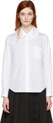 Comme Des Garcons White Oversized Collar Shirt