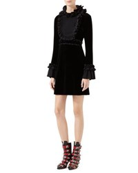 Gucci Velvet Long Sleeve Dress Black