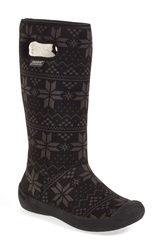 Bogs 'Summit Sweater' Waterproof Boot Women Black Fabric Rubber