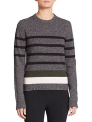 Aquilano Rimondi Striped Crewneck Sweater Green Multi