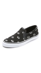 Kenzo Slip On Sneakers Black Eyes Print