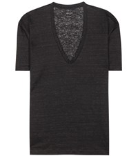Isabel Marant Maree Linen T Shirt Grey