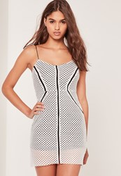 Missguided Textured Monochrome Bodycon Dress Black