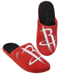 Forever Collectibles Men's Houston Rockets Big Logo Slippers Red Black